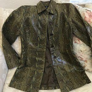 INC Womens leather blazer